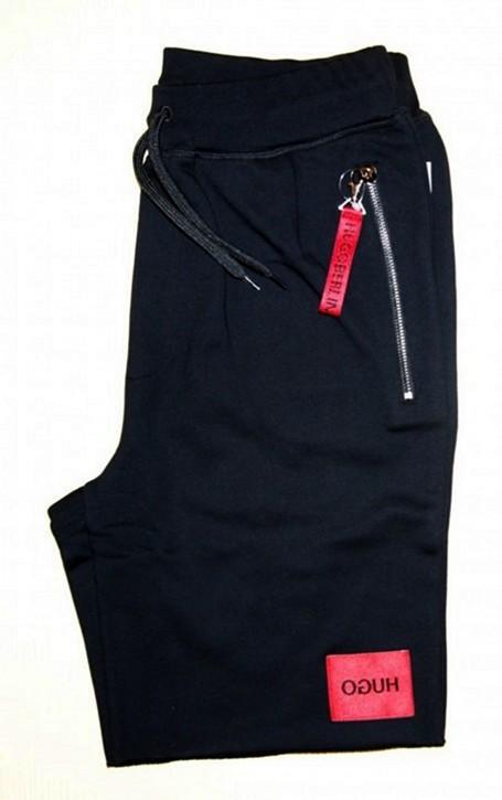 HUGO Relaxed-Fit Shorts DACTUS aus Baumwoll-Terry mit Reisverschlüssen schwarz 001