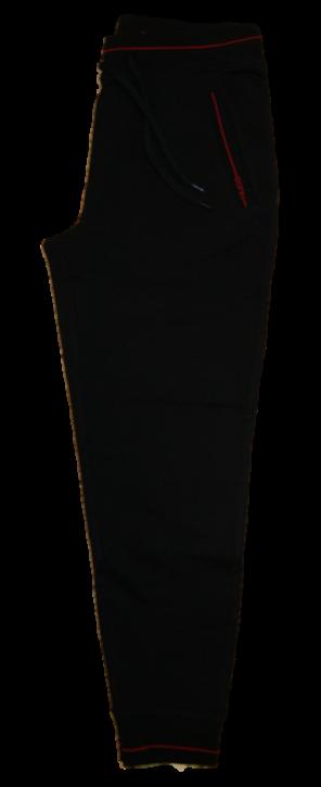 HUGO Jogginghose DOAK202 aus French Terry mit kontrastfarbenen Details und Bündchen schwarz 001