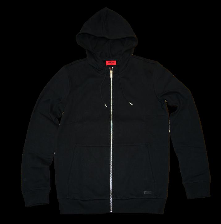 HUGO Relaxed-Fit Sweatshirt-Jacke aus Baumwolle mit Kapuze Dattis Farbe scharz 001