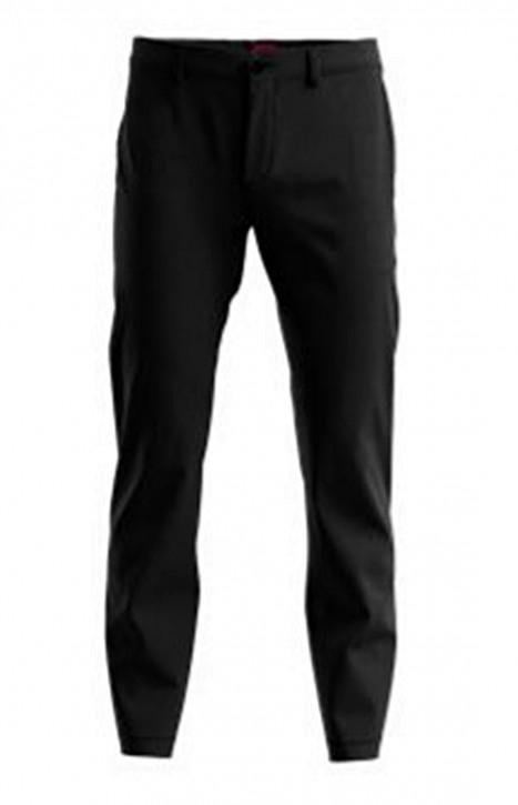 HUGO Hose DAVID212F1 Slim Fit mit gummierten Zip Taschen dunkelblau 405