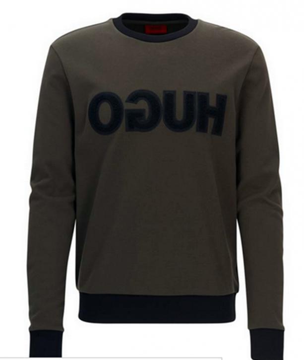 HUGO Logo Sweatshirt DICAGOR Farbe oliv 306