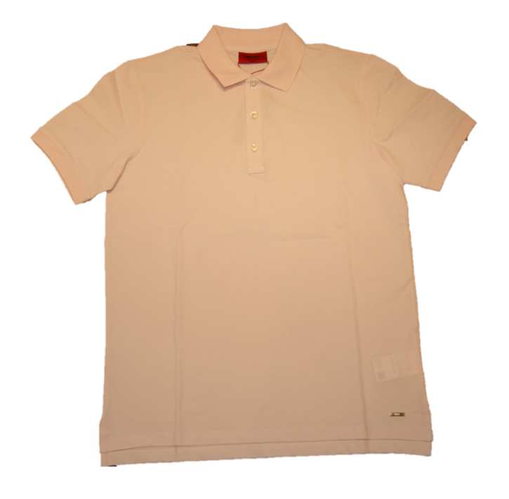 HUGO Slim-Fit Poloshirt DINOS aus Stretch-Baumwolle rosa 683