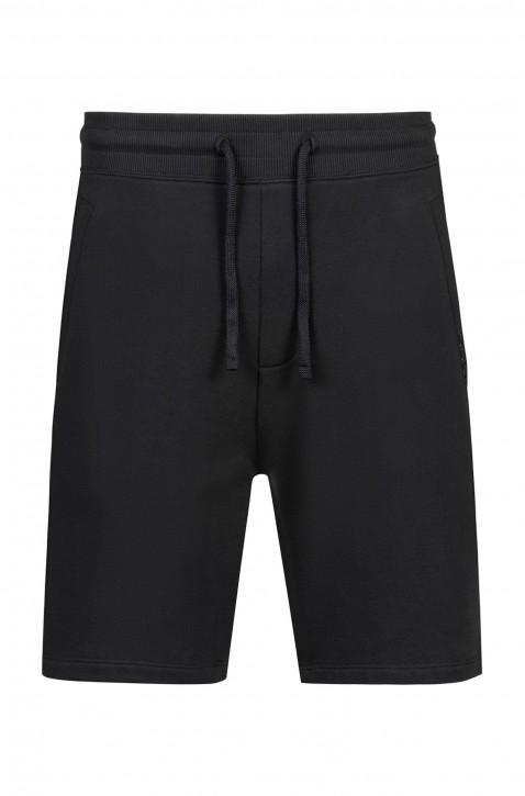 HUGO Shorts DIZ-U1 aus French Terry mit Tunnelzug schwarz 001