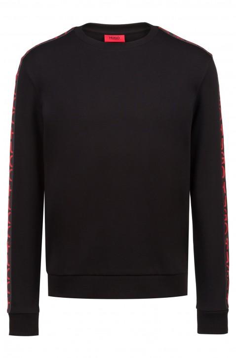HUGO Sweatshirt DOBY ausBaumwolle mit Logo-Band am Ärmel schwarz