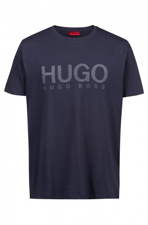 HUGO Relaxed-Fit T-Shirt Dolive-U1 aus Baumwoll-Jersey mit Logo Farbe dunkelblau 414