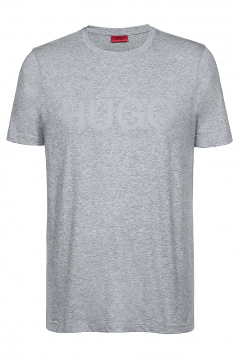 HUGO Relaxed-Fit T-Shirt Dolive-U1 aus Baumwoll-Jersey mit Logo Farbe grau 032
