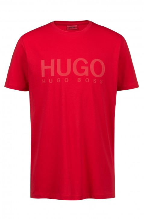HUGO Relaxed-Fit T-Shirt Dolive-U1 aus Baumwoll-Jersey mit Logo Farbe rot 620