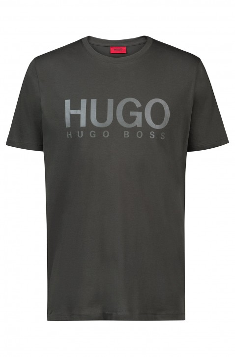 HUGO Relaxed-Fit T-Shirt Dolive-U1 aus Baumwoll-Jersey mit Logo Farbe oliv 301