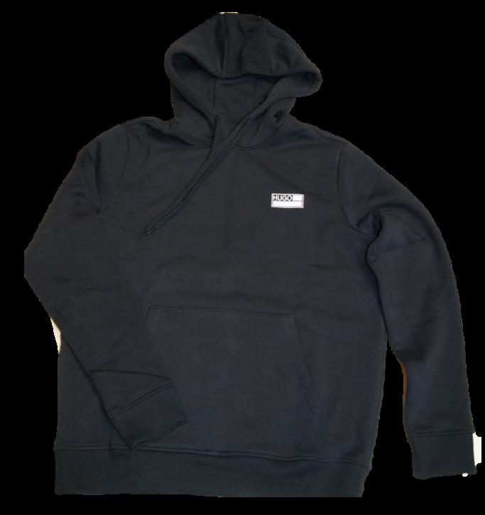 HUGO Oversized Kapuzen-Sweatshirt DOYANO aus recycelter Baumwolle und Polyester schwarz 001
