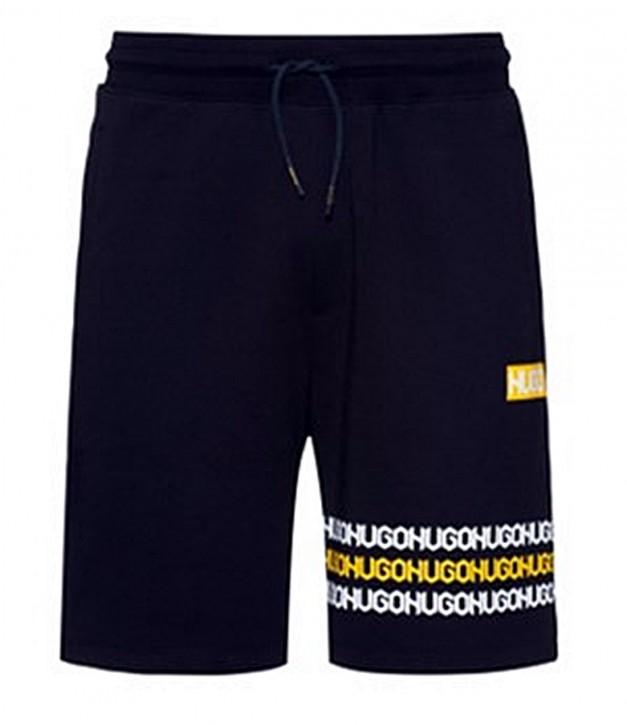 Hugo Shorts Dakumi aus Baumwoll-Terry mit Reifenspuren-Logos schwarz 001