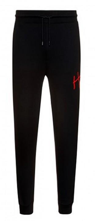 Hugo Boss Jogginghose Dartini aus Bio-Baumwolle mit Bündchen und handgeschriebenem Logo schwarz 001
