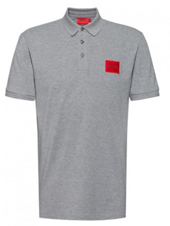 HUGO Poloshirt Dereso212 aus Baumwoll-Piqué mit Logo-Aufnäher grau 031