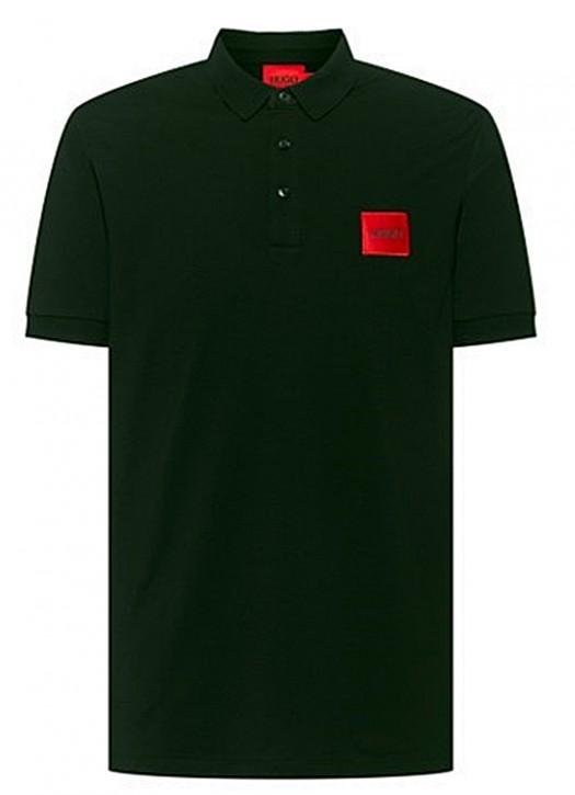 HUGO Poloshirt Dereso212 aus Baumwoll-Piqué mit Logo-Aufnäher schwarz 001