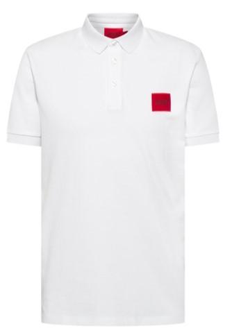 HUGO Poloshirt  Dereso212 aus Baumwoll-Piqué mit Logo-Aufnäher weiß 100