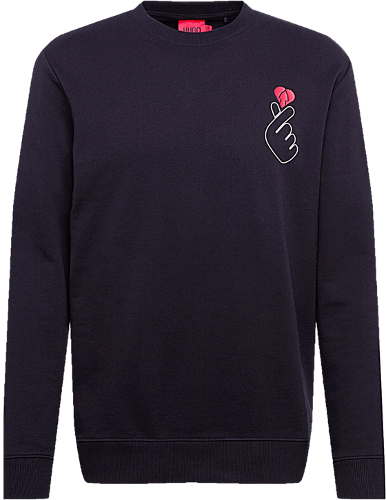 Sweatshirt Dungiku aus French-Terry-Baumwolle mit Valentinstags-Artwork Schwarz 001