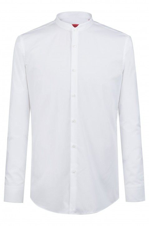 HUGO Extra Slim-Fit Hemd ELVORINI mit Stehkragen weiss 199