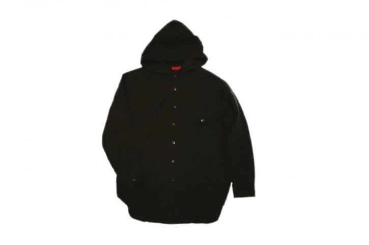 HUGO Relaxed-Fit Hemd Emsley aus Baumwolle mit Kapuze Farbe schwarz 001