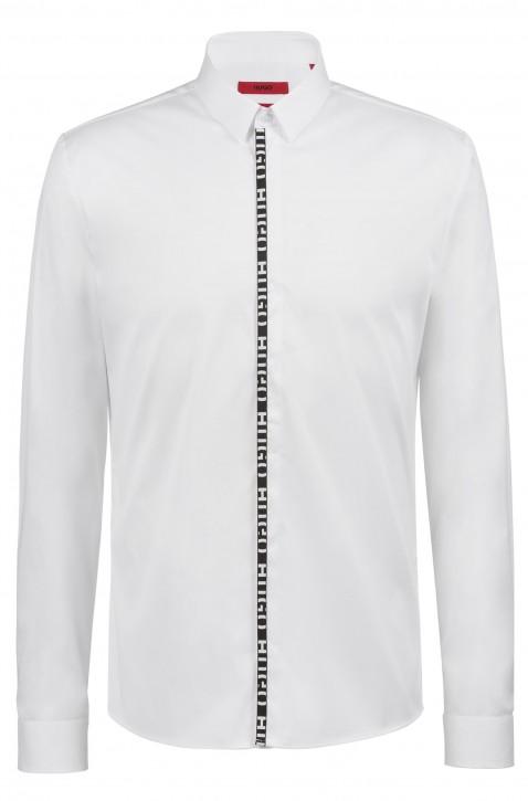 HUGO Extra Slim-Fit Hemd ERO3 mit Hugo Logo-Blende weiss 199