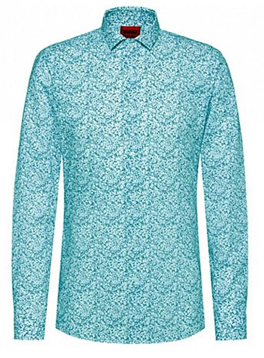 HUGO Extra Slim-Fit Hemd ERONDO aus Baumwolle mit japanischem Blumen-Print 413