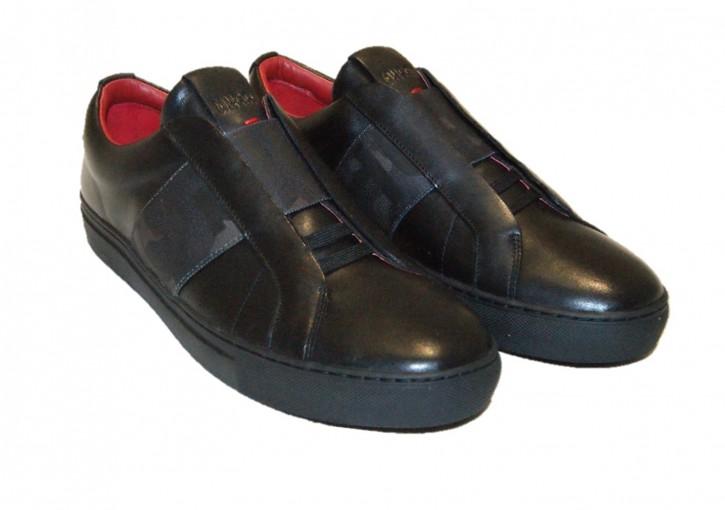 HUGO Slip-on Sneakers Futurism_Slon_naelc aus Leder mit elastischem Riemen