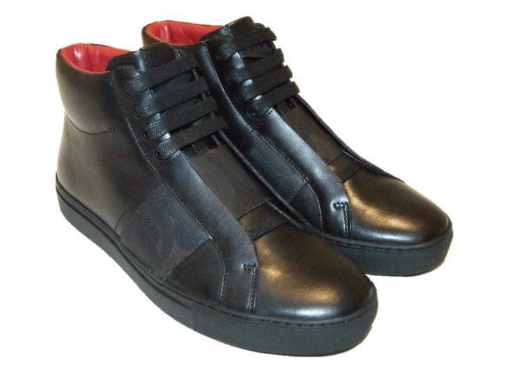 HUGO Sneakers Futurism_Hito_naelc mit Schnürung und Gummizug schwarz