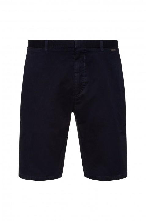 HUGO Shorts GlenS202D aus Stretch-Gabardine mit mittlerer Bundhöhe blau 405
