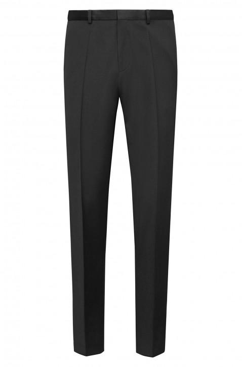 HUGO Extra Slim-Fit Hosen HartleyS aus pigmentgefärbter Schurwolle schwarz