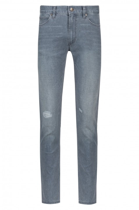 HUGO Skinny-Fit Jeans HUGO 734 aus Stretch-Denim Used-Optik Farbe grau 030