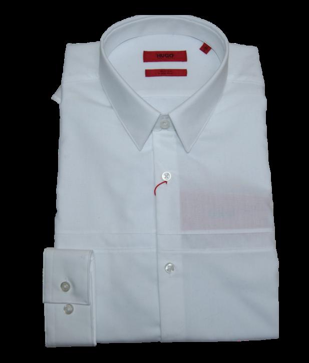 HUGO Slim-Fit Hemd KAM aus bügelleichter Baumwolle Farbe weiss 199