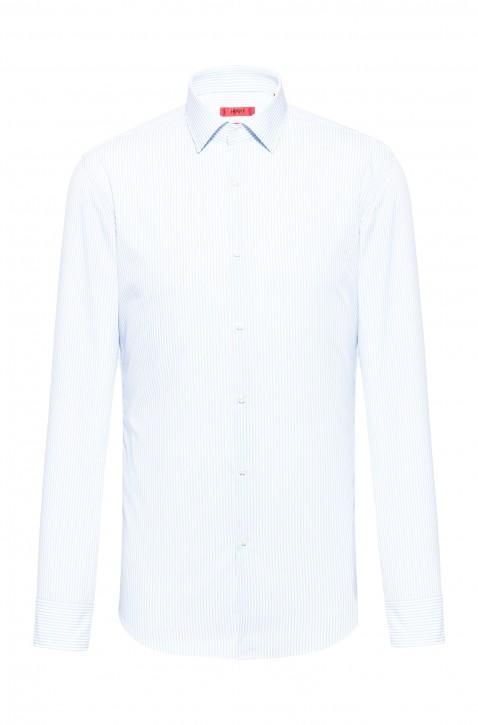 HUGO Slim-Fit Hemd KENNO aus elastischem Baumwoll-Mix weiss 199