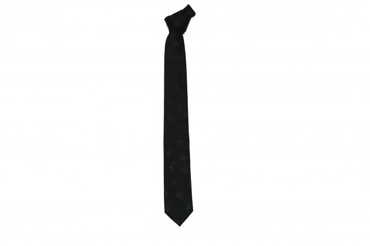 HUGO Krawatte aus Seide Tie cm 6 mit Jacquard-Totenkopfmuster schwarz 001