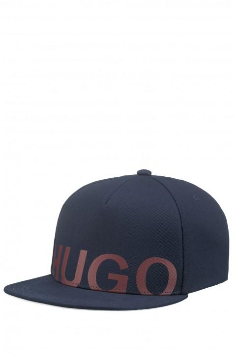 HUGO Baseball Cap Men-X 541 aus Baumwolle mit Logo-Schriftzug dunkelblau