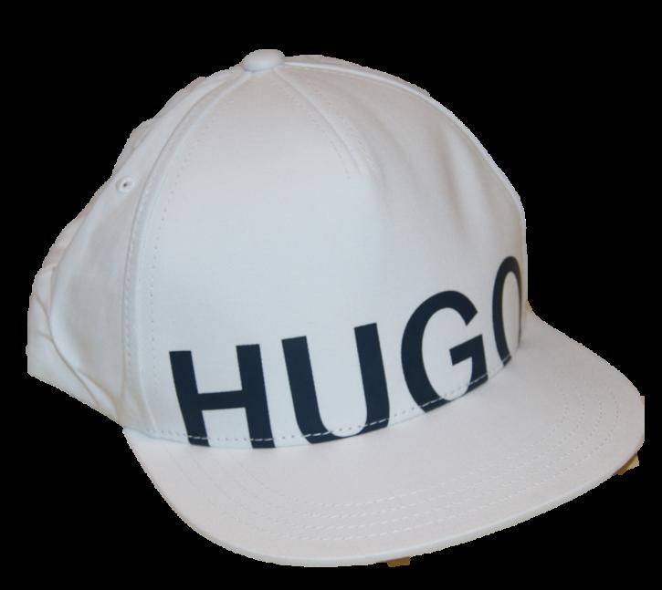 HUGO Cap Men-X 570-1 aus Baumwoll-Twill mit Kontrast-Logo weiss 100