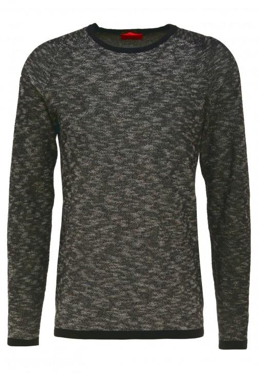 HUGO Strick Pullover Sork Farbe schwarz 001