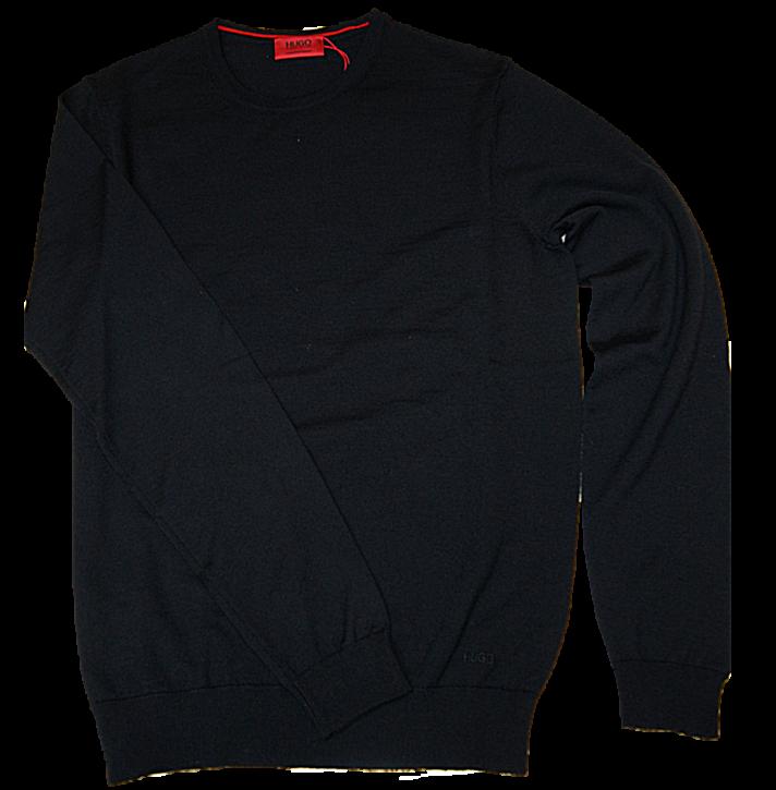 HUGO Pullover aus Extrafeiner Merinowolle SAN PAOLO 2 Farbe schwarz 001