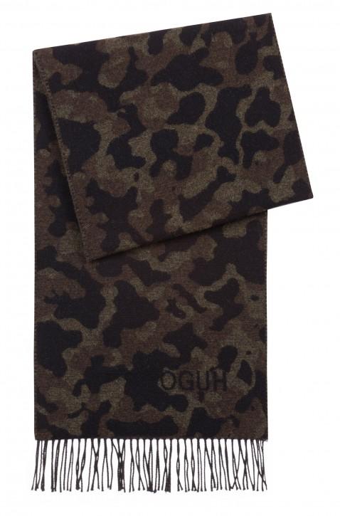 HUGO Schal MEN -Z 471 Camouflage-Schal aus einer Mischung aus gebürsteter Wolle Farbe oliv 961
