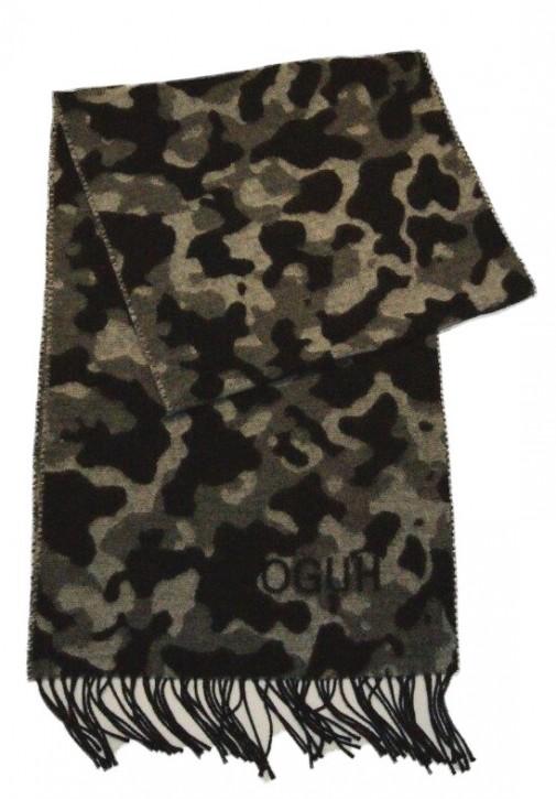HUGO Schal MEN -Z 471 Camouflage-Schal aus einer Mischung aus gebürsteter Wolle Farbe grau camou 960