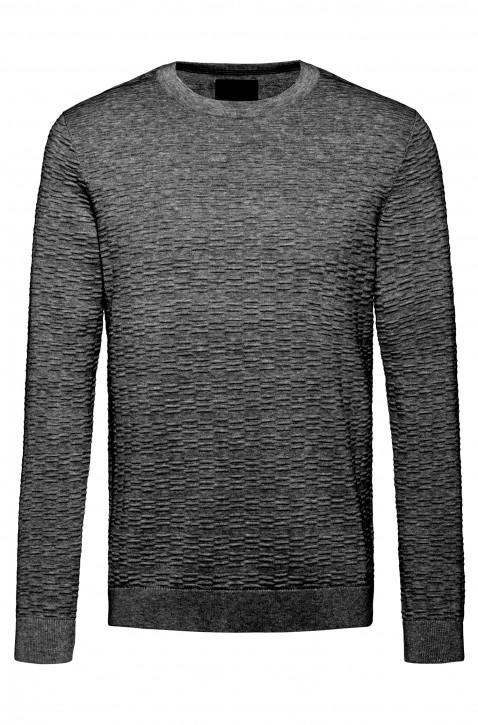 HUGO Pullover SIGSON aus leichter Baumwolle mit Ottoman-Struktur schwarz 001