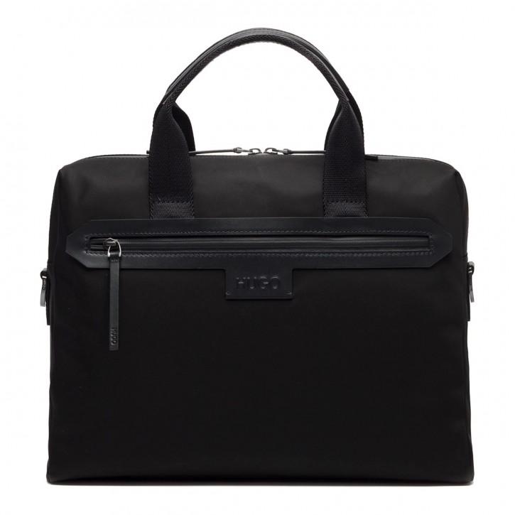 HUGO  Aktentasche STONE_S DOC CASE für Herren mit verstellbarem Schultergurt schwarz 001