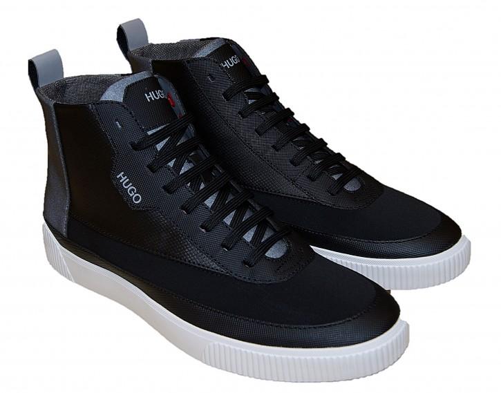 Hugo Boss Herren Hightop Sneakers Zero_hito_loneob mit Leder und Logo-Details schwarz 002