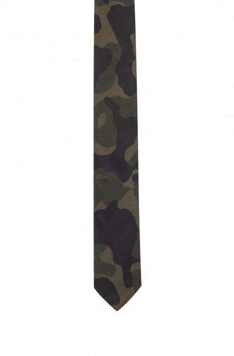 HUGO Krawatte Tie cm 6 aus Seide mit Camouflage-Print 301