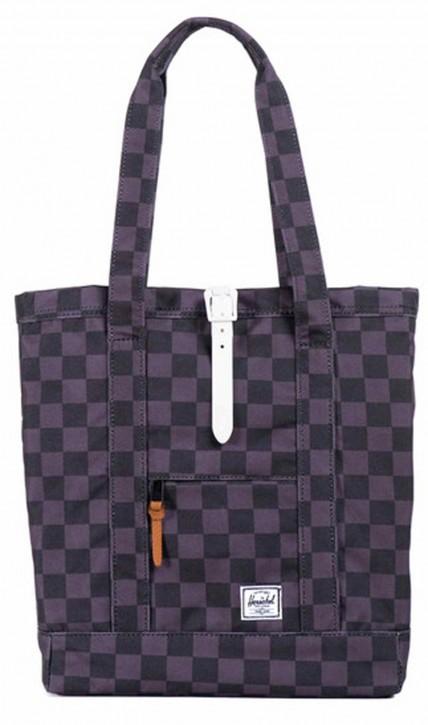 Herschel Tasche Market Tote / Black Checkerboard