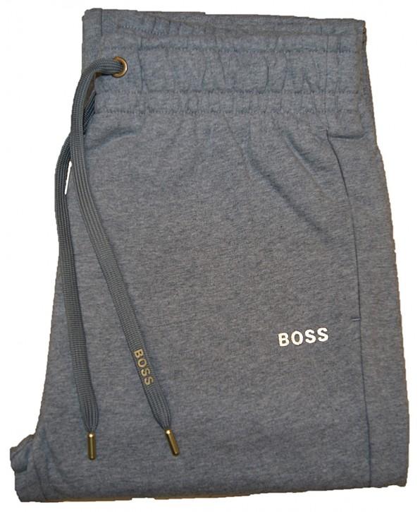 Hugo Boss Regular-Fit Jogginghose mit Details in Gold-Optik  C_Emayla_Gold grau 040