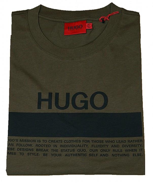 Hugo Boss T-Shirt Daitai aus Baumwoll-Jersey mit Manifesto-Logo oliv 304