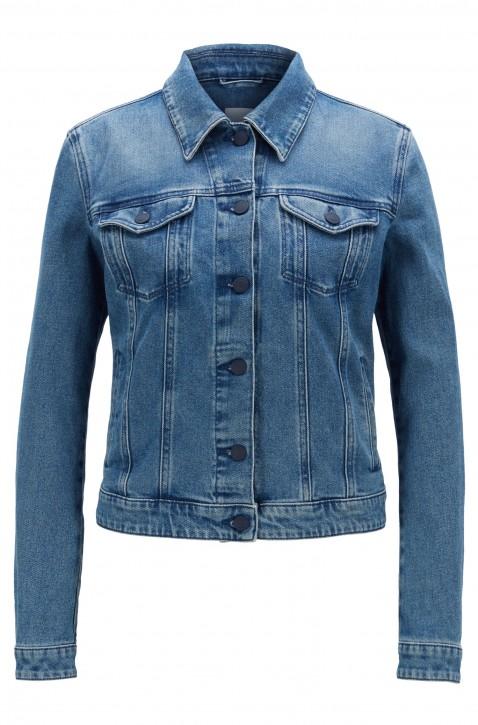 BOSS Jeans Jacke im Trucker-Stil J90 GHENT STUDIO aus Denim in Vintage-Optik blau 436