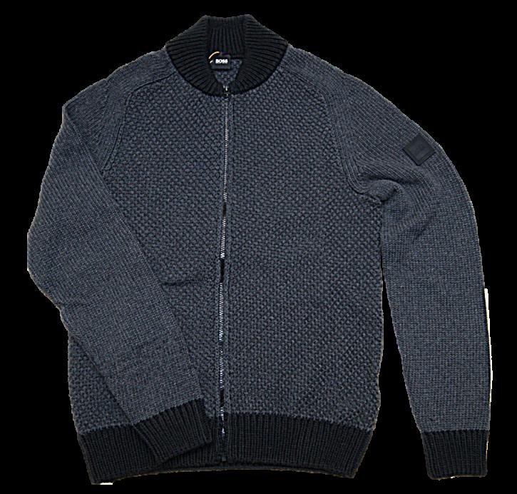 HUGO BOSS Cardigan KARESSI aus Recycelter Baumwolle Farbe grau 002