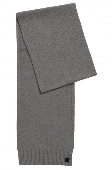 BOSS Strukturierter Strickschal  KOTAREN aus italienischem Garn grau 051