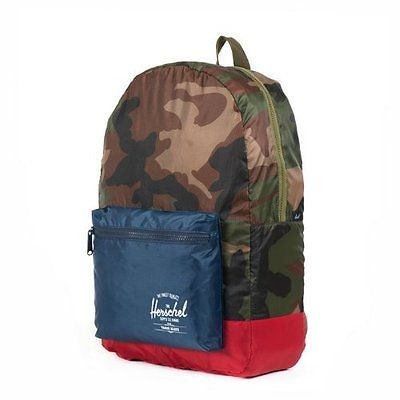 HERSCHEL PACKABLE DAYPACK FARBE WOODLAND CAMO/NAVY/RED