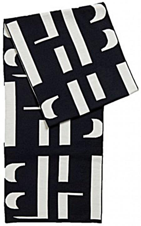 Hugo Boss Leane Schal aus Schurwolle mit Monogramm-Motiv dunkelblau 963