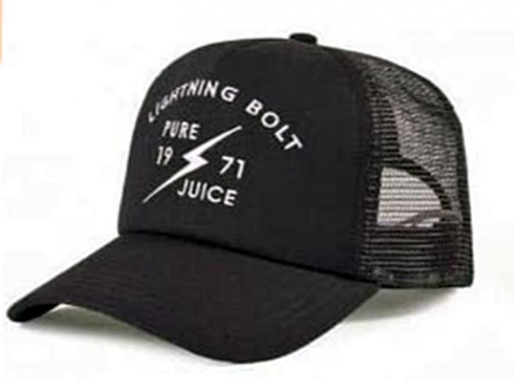LIGHTNING BOLT Trucker cap mit dem Namen 1971 JUICE schwarz K00